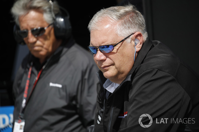 Art St. Cyr, Presidente de Honda Performance Development y Mario Andretti