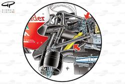 Ferrari F150th Italia rear suspension