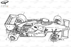 Подробная схема Alfa Romeo 184T 1984 года