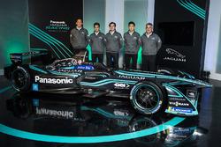 Mitch Evans, Nelson Piquet Jr, Ho-Pin Tung, Jaguar Racing