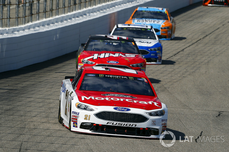 Ryan Blaney, Wood Brothers Racing Ford, c41\, Ricky Stenhouse Jr., Roush Fenway Racing Ford, Clint B