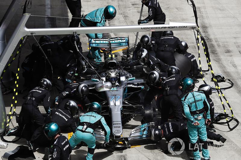 Пит-стоп: Валттери Боттас, Mercedes AMG F1 W08