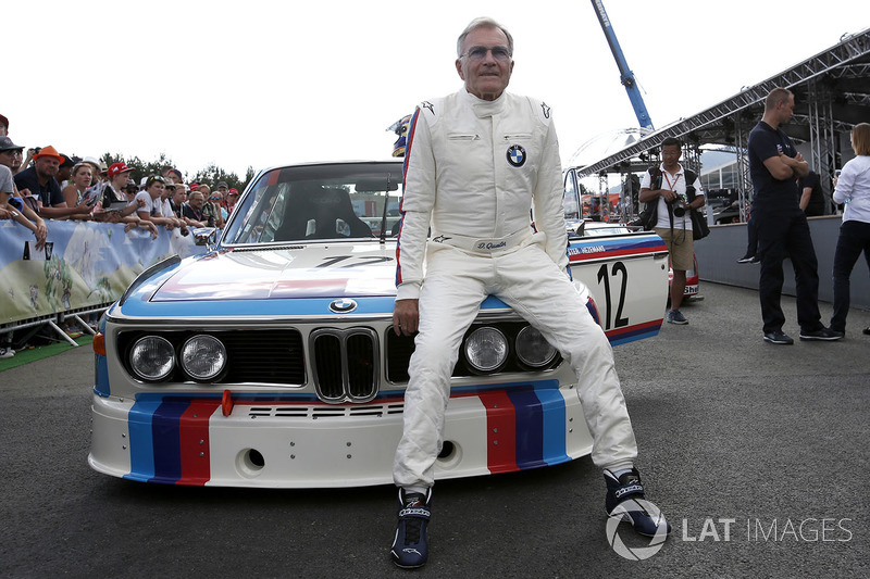 Dieter Quester, 1973 BMW 3.0 CSL at the Legends Parade