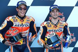Ganador de la pole Dani Pedrosa, Repsol Honda Team y el segundo clasificado Marc Márquez, Repsol Honda Team