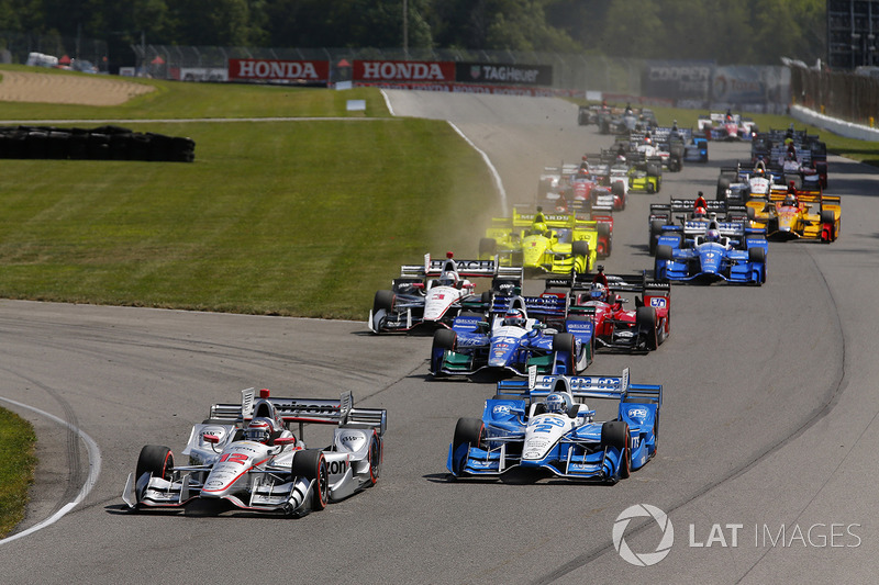 Arrancada: Will Power, Team Penske Chevrolet, Josef Newgarden, Team Penske Chevrolet líder