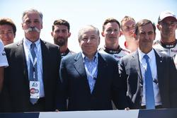Chase Carey, FOM CEO, Jean Todt, FIA Başkanı, Pierre Fillon, ACO Başkanı