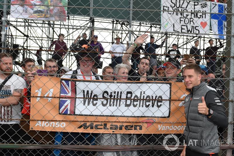 Стоффель Вандорн, McLaren, уболівальники