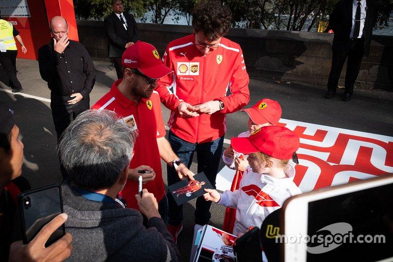 Sebastian Vettel, Ferrari, Mattia Binotto