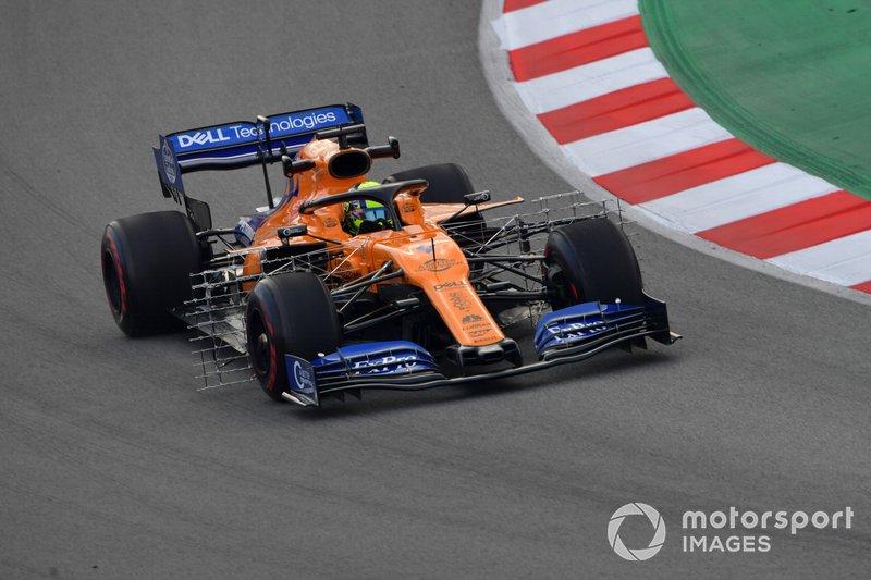 McLaren MCL34 with aero sensors