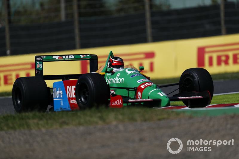 Aguri Suzuki, Benetton B188 at Legends F1 30th Anniversary Lap Demonstration