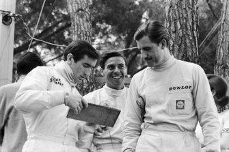 Jackie Stewart, Jim Clark y Graham Hill