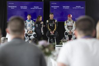 Conférence de presse : Edoardo Mortara Venturi Formula E, Andre Lotterer, DS TECHEETAH, Daniel Abt, Audi Sport ABT Schaeffler