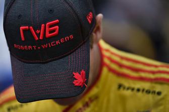 Ryan Hunter-Reay, Andretti Autosport Honda avec une casquette de Robert Wickens