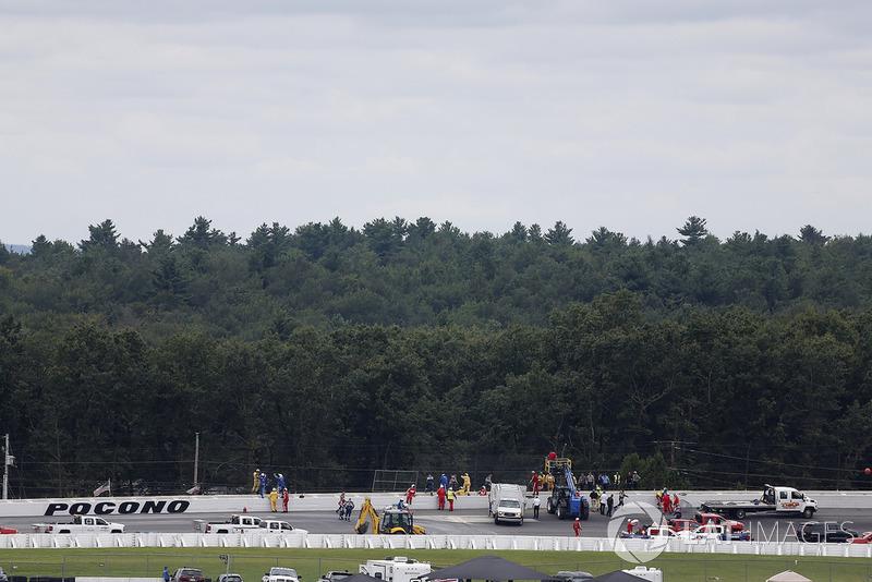 Reparaciones tras el accidente de Robert Wickens, Schmidt Peterson Motorsports Honda