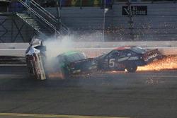 Justin Fontaine, Toyota, Codie Rohrbaugh, Dodge, Bobby Gerhart, Chevrolet crash
