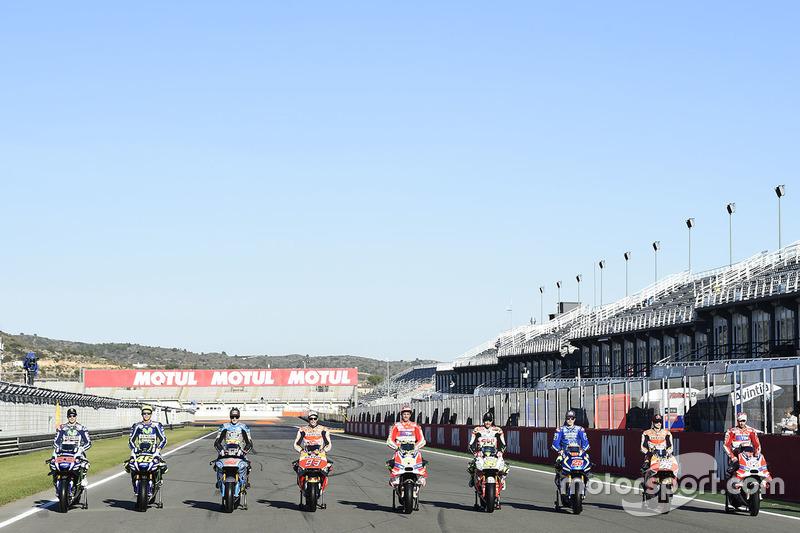 Los 9 ganadores de 2016, Lorenzo, Rossi, Miller, Márquez, Iannone, Crutchlow, Viñales, Pedrosa y Dovizioso