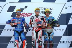 Podio: ganador de la carrera Takaaki Nakagami, Idemitsu Honda equipo Asia, segundo lugar Mattia Pasini, Italtrans Racing Team, tercer lugar Franco Morbidelli, Marc VDS