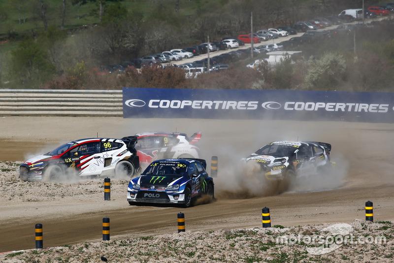 Petter Solberg, PSRX Volkswagen Sweden, VW Polo GTi, Kevin Eriksson, MJP Racing Team Austria, Ford Fiesta ST, Timur Timerzyanov, STARD, Ford Fiesta