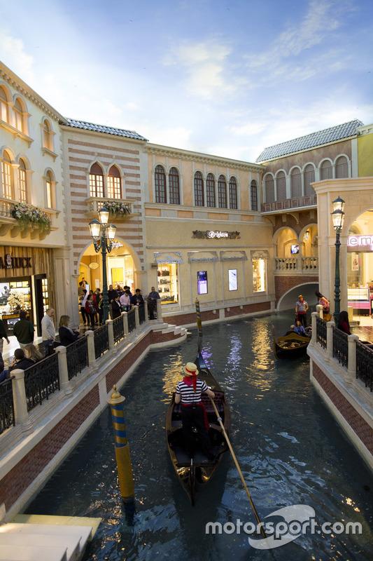 Una góndola en el Gran Canal de Las Vegas