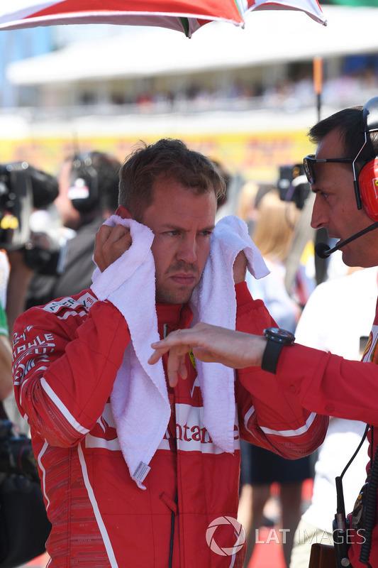 Sebastian Vettel, Ferrari, Riccardo Adami, Ingeniero de carrera de Ferrari
