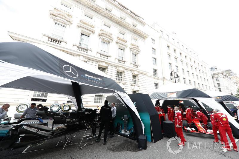 Mercedes und Ferrari bereiten sich vor