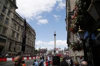 Strecke für F1-Showrun am Trafalgar Square in London