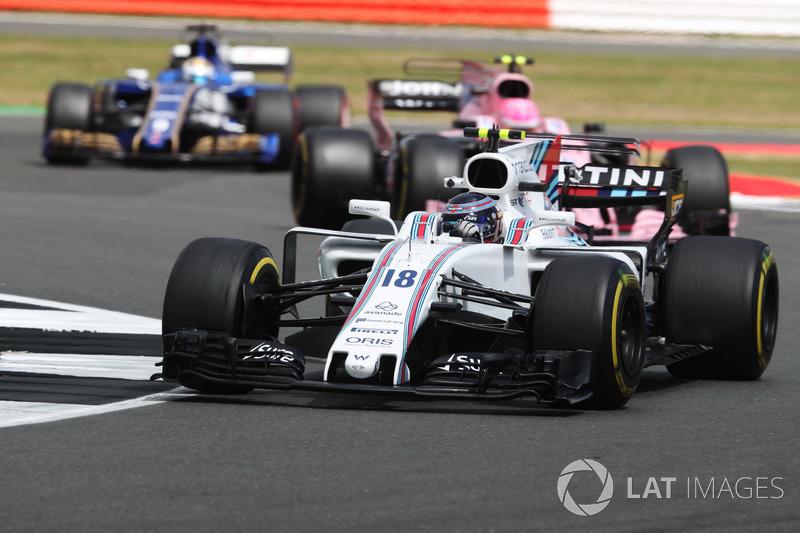 Ленс Стролл, Williams FW40, Естебан Окон, Sahara Force India F1 VJM10, Маркус Ерікссон, Sauber C36