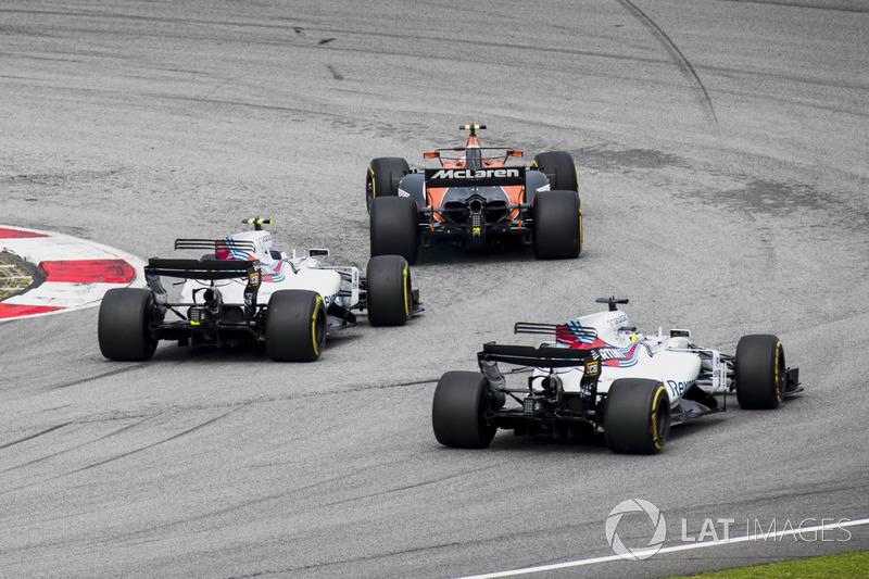Стоффель Вандорн, McLaren MCL32, Ленс Стролл, Феліпе Масса, Williams FW40