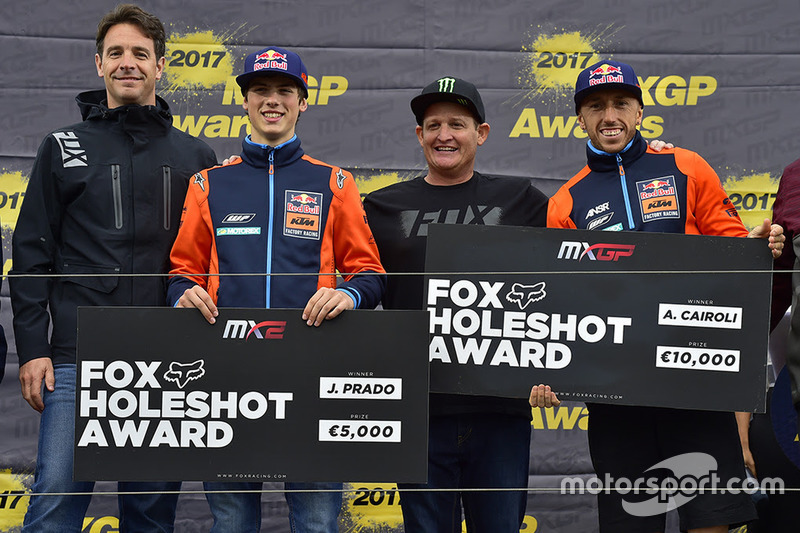 Jorge Prado y Tony Cairoli, KTM Factory Racing, lograron más Holeshot que nadie en 2017