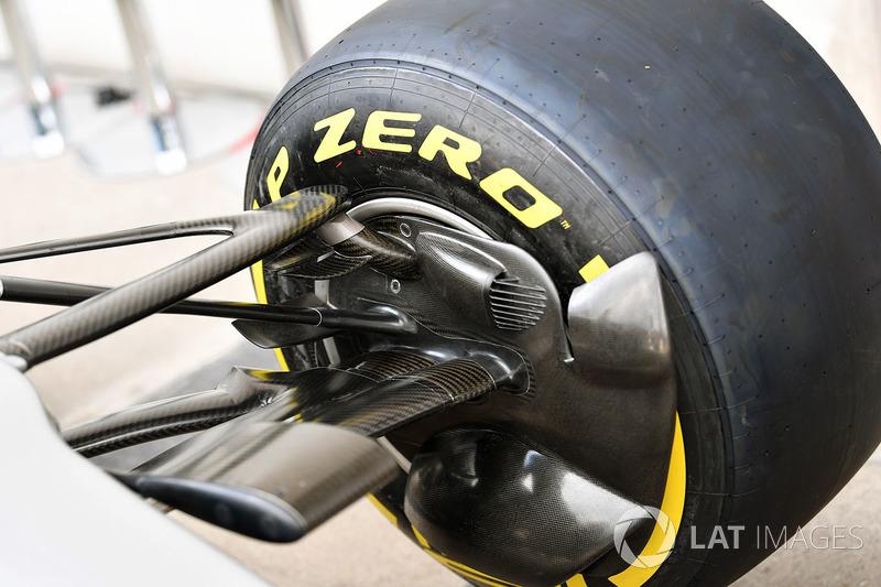 Conducto de ventilación de freno del Mercedes AMG F1 W08