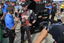 Kyle Busch, Joe Gibbs Racing Toyota gives an interview to NBC
