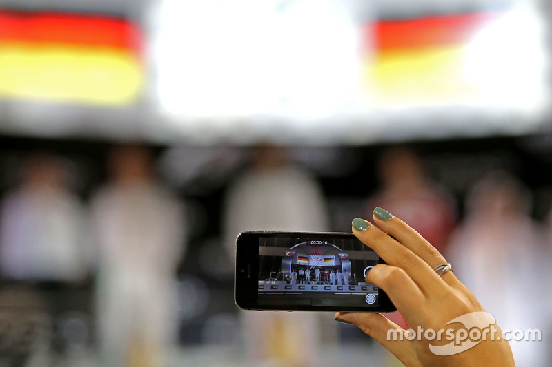 Nico Rosberg, Mercedes AMG F1, Lewis Hamilton, Mercedes AMG F1 and Sebastian Vettel, Scuderia Ferrar