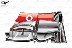 McLaren MP4-27 front wing (new specification)
