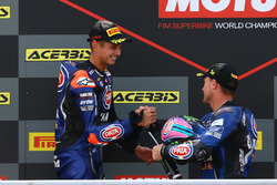 Podio: Michael van der Mark, Pata Yamaha, Alex Lowes, Pata Yamaha