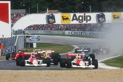 Айртон Сенна и Герхард Бергер, McLaren MP4/5B Honda