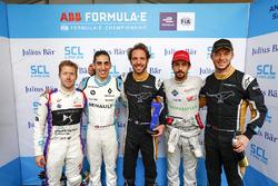 Sam Bird, DS Virgin Racing, Sébastien Buemi, Renault e.Dams, Jean-Eric Vergne, Techeetah, Lucas di Grassi, Audi Sport ABT Schaeffler, Andre Lotterer, Techeetah