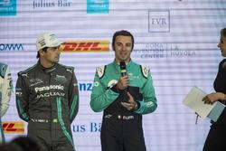 Luca Filippi, NIO Formula E Team, in the press conference withNelson Piquet Jr., Jaguar Racing