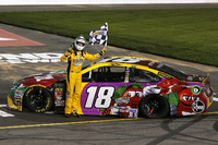 1. Kyle Busch, Joe Gibbs Racing, Toyota Camry M&M's