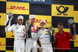 Podio: el ganador de la carrera René Rast, Audi Sport Team Rosberg, segundo Gary Paffett, Mercedes-AMG Team HWA, tercero Paul Di Resta, Mercedes-AMG Team HWA