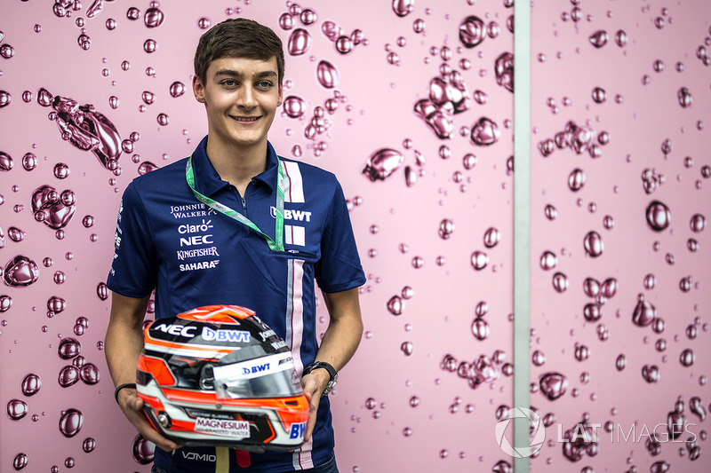 George Russell, Sahara Force India con su casco
