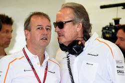Jonathan Neale, McLaren Managing Director and Mansour Ojjeh, McLaren