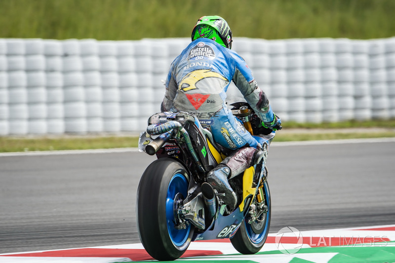 Franco Morbidelli, Estrella Galicia 0,0 Marc VDS after the crash