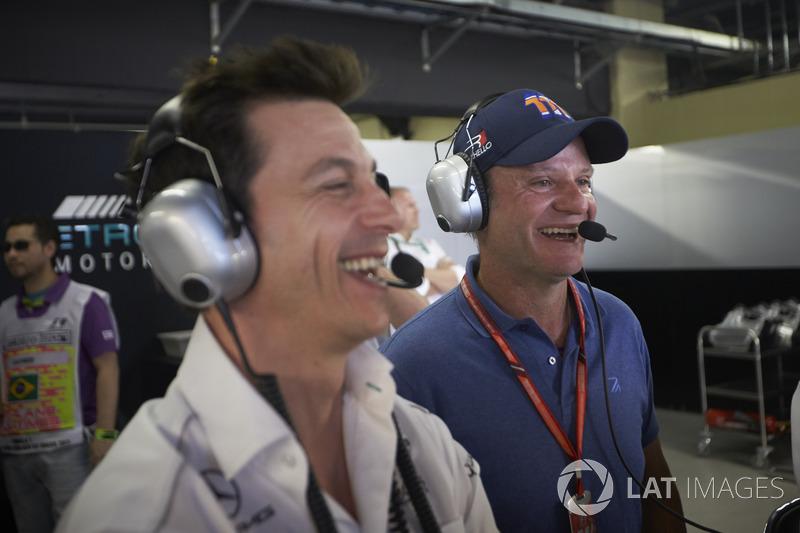 Керівник Mercedes AMG F1 Тото Вольфф, Рубенс Баррікелло