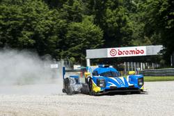 #49 High Class Racing Dallara P217 - Gibson: Dennis Andersen, Anders Fjordbach, run wide