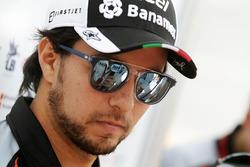 Sergio Pérez, Sahara Force India F1 with the media