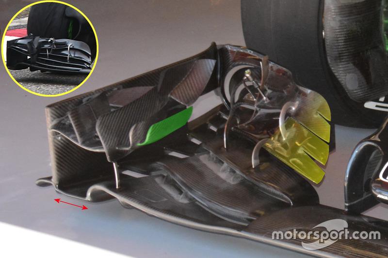 McLaren MP4-31, dettaglio dell'ala anteriore