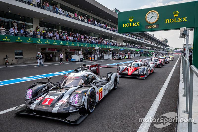 Le vetture LMP1 si allineano per le qualifiche