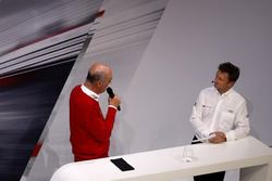 Dr. Wolfgang Ullrich, Audi's Head of Sport with Allan McNish