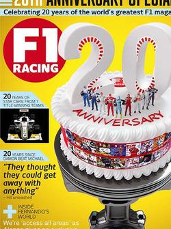 Ювілейна обкладинка F1 Racing до 20-річчя