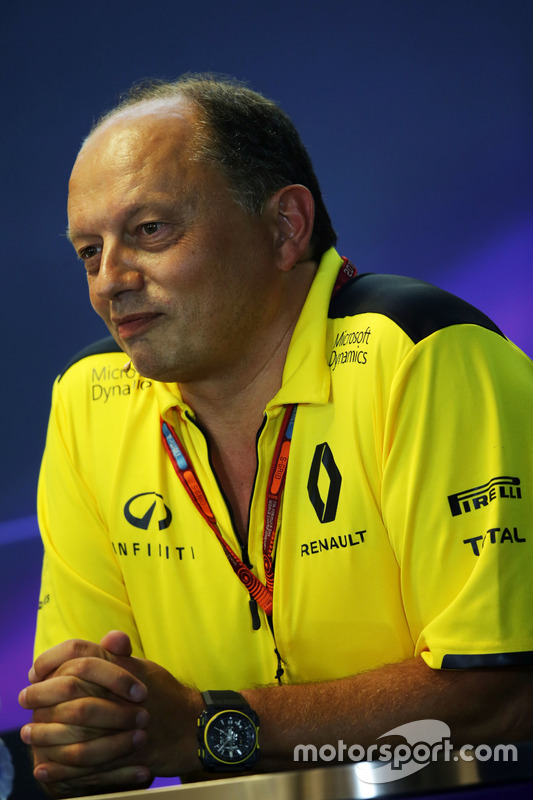 Frederic Vasseur, Renault Sport F1 Team Racing Director in the FIA Press Conference